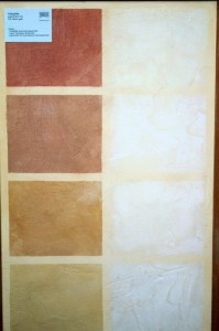 In diesem Bild wurde Kalkglätte mit Pigmenten eingefärbt